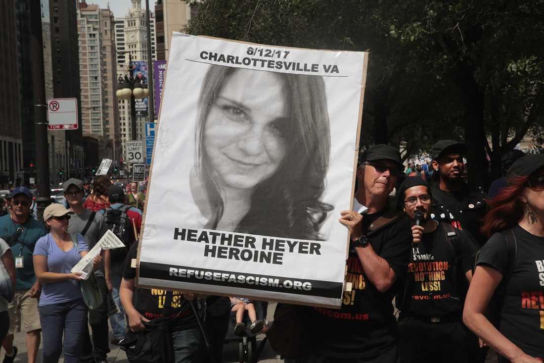 Heather, 32, dog i våldsamheterna i Charlottesville.