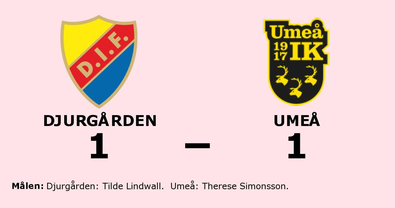 Therese Simonsson poängräddare för Umeå