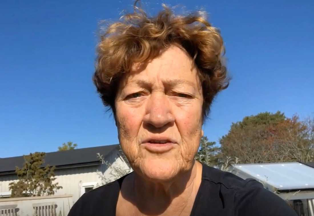 "Gittan Frejhagen, 76, leder protestgruppen ""Gretas gamlingar""."