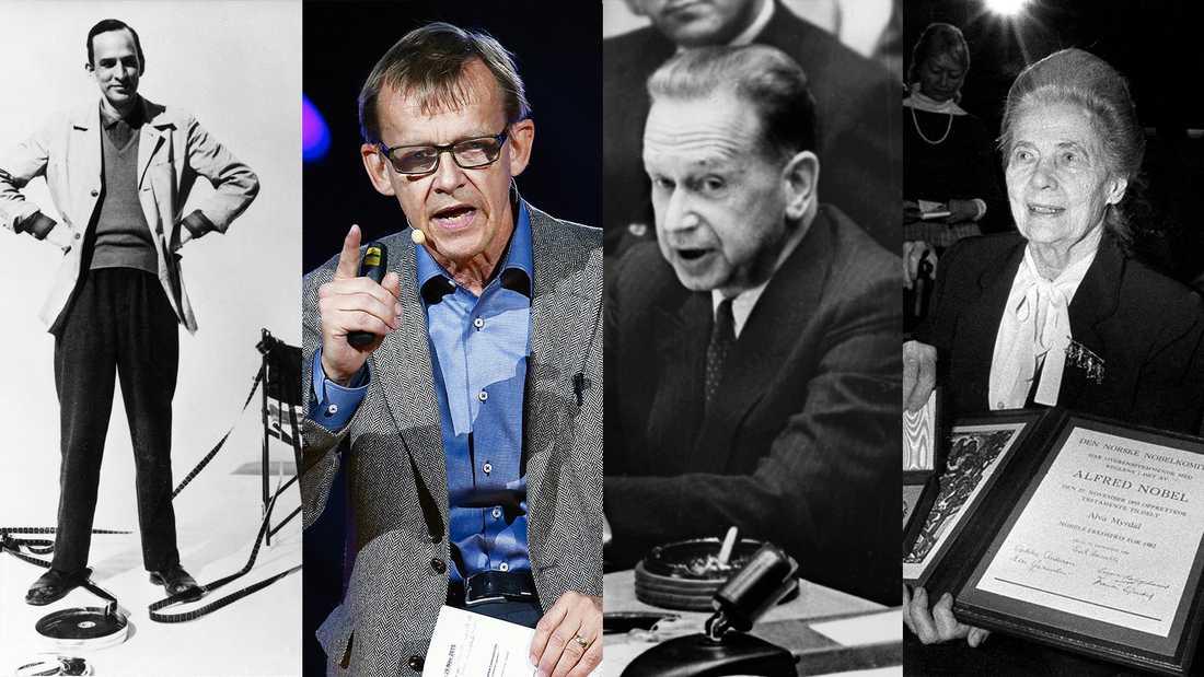 Ingmar Bergman, Hans Rosling, Dag Hammarskjöld och Alva Myrdal är alla berömda Uppsalaprofiler.