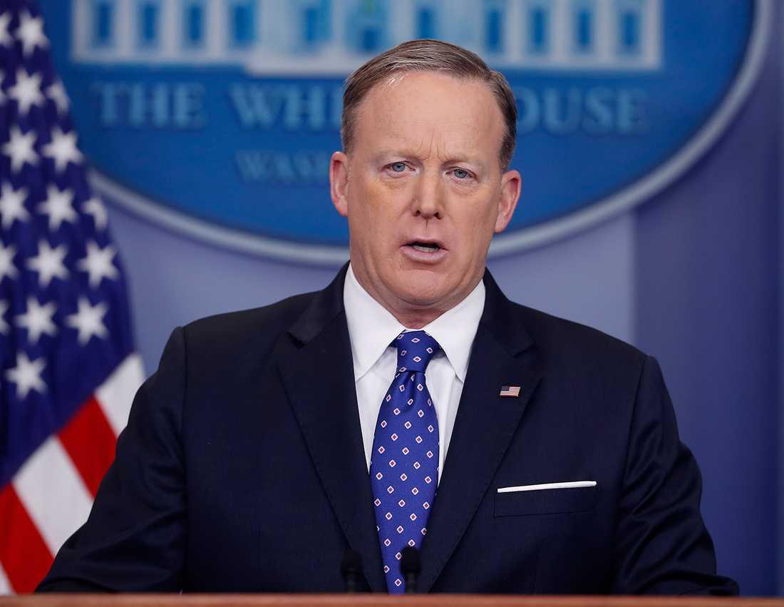 Vita husets pressekreterare Sean Spicer.