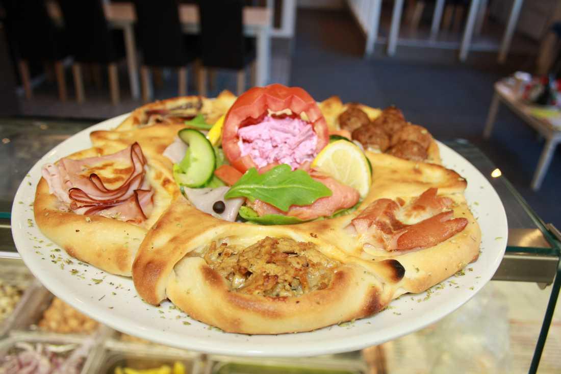 Julbordspizzan finns även som singelpizza.