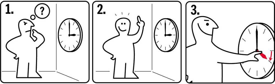Så ställer du om klockan.
