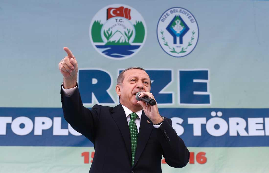Arkivbild på Turkiets president Recep Tayyip Erdoğan