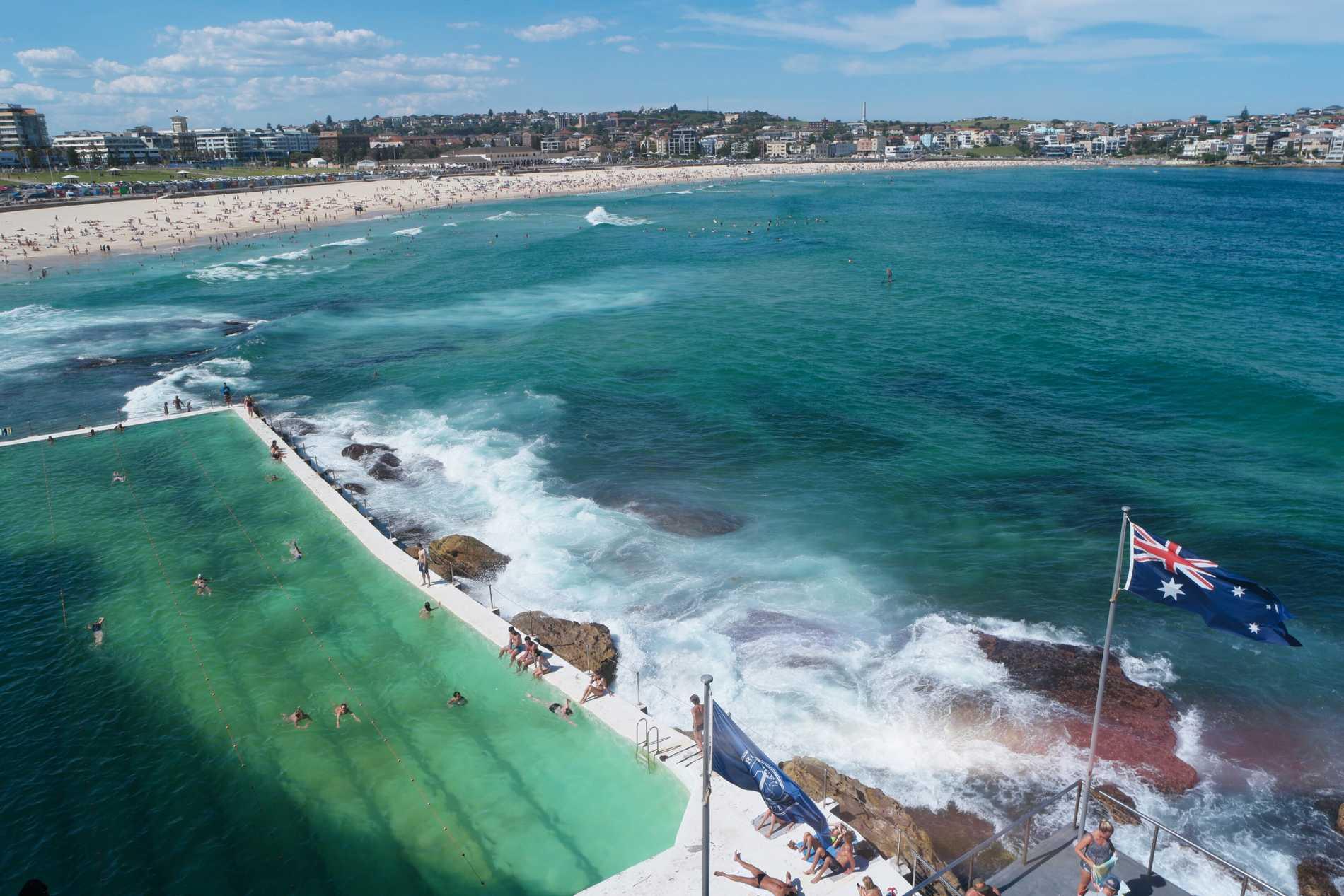 Bondi Beach i Sydney. Arkivbild.