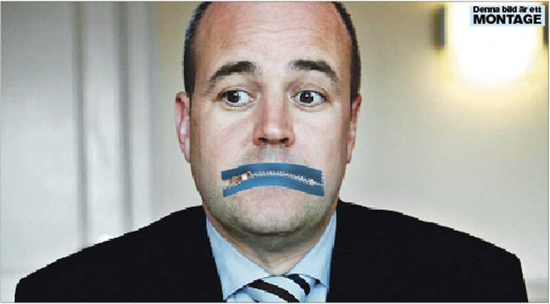 munkavle Fredrik Reinfeldts moderater väljer, som enda parti, att inte berätta var partibidraget kommer i från. OBS! Bilden är ett montage!