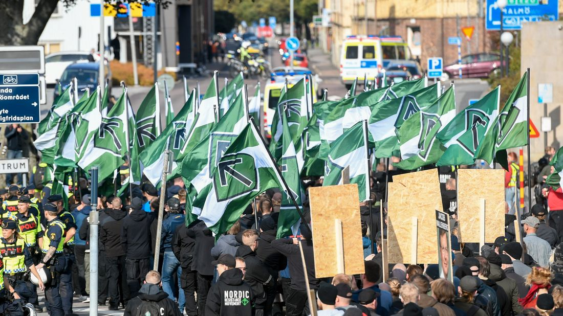 Violence extremists are a growing problem in the city of Gothenburg. Among the assets are right-wing groupings. Stock Photography.
