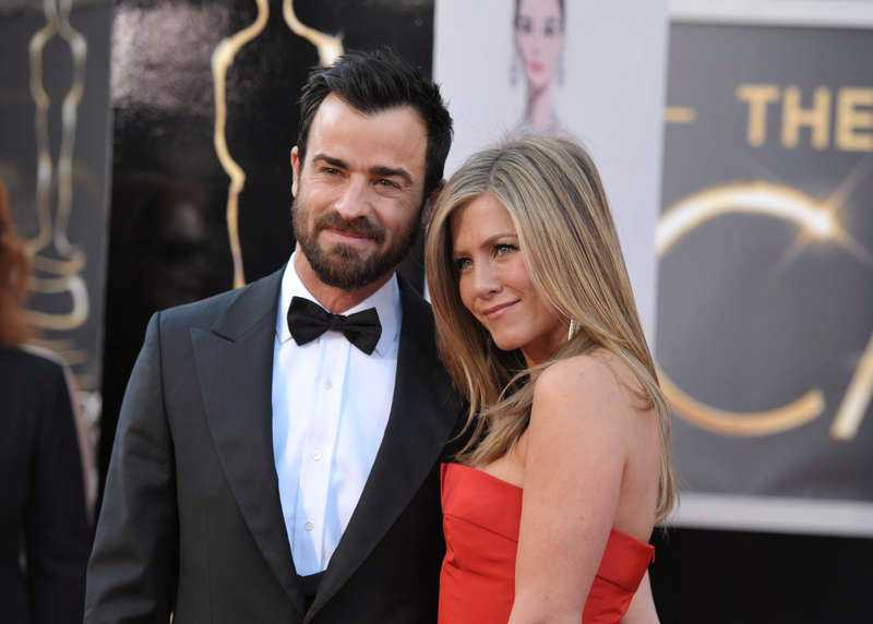 Justin Theroux och Jennifer Aniston.