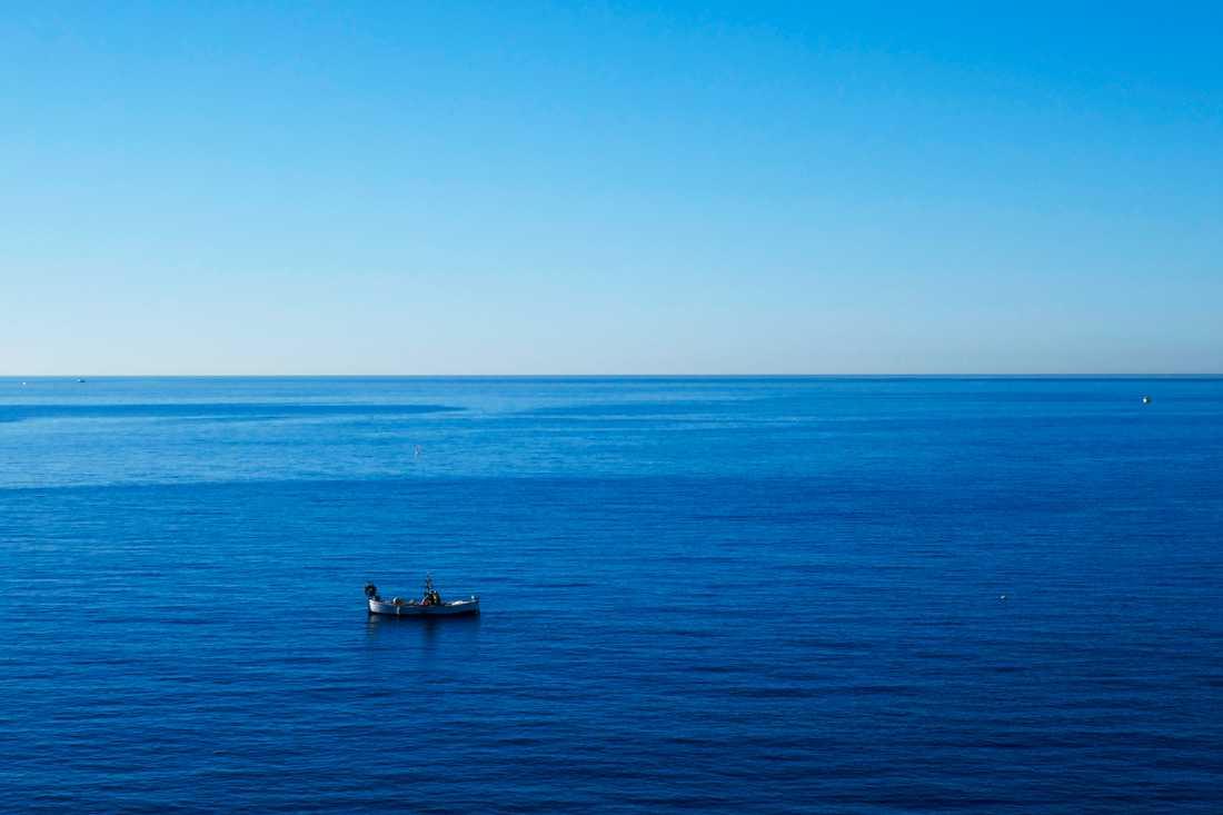 En fiskebåt på Medelhavet utanför franska Nice. Arkivbild.