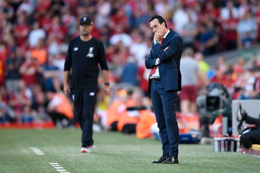 Unai Emery hade en tuff tid i Arsenal.