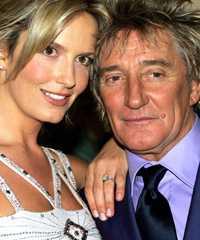 Penny Lancaster och Rod Stewart.
