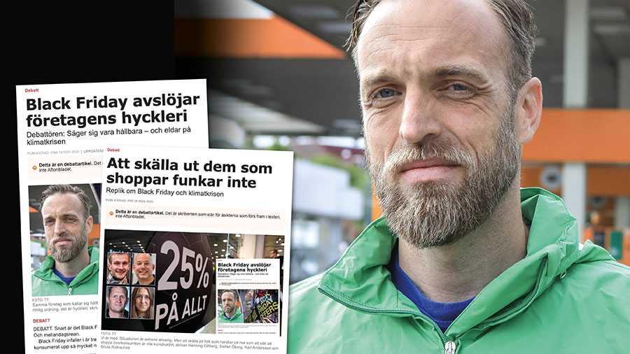 Vi skulle aldrig komma på tanken att skuldbelägga människor för att de handlar med priset i åtanke. Herregud, vet ni vad vi har för löner i miljörörelsen? Slutreplik från Gustav Martner.