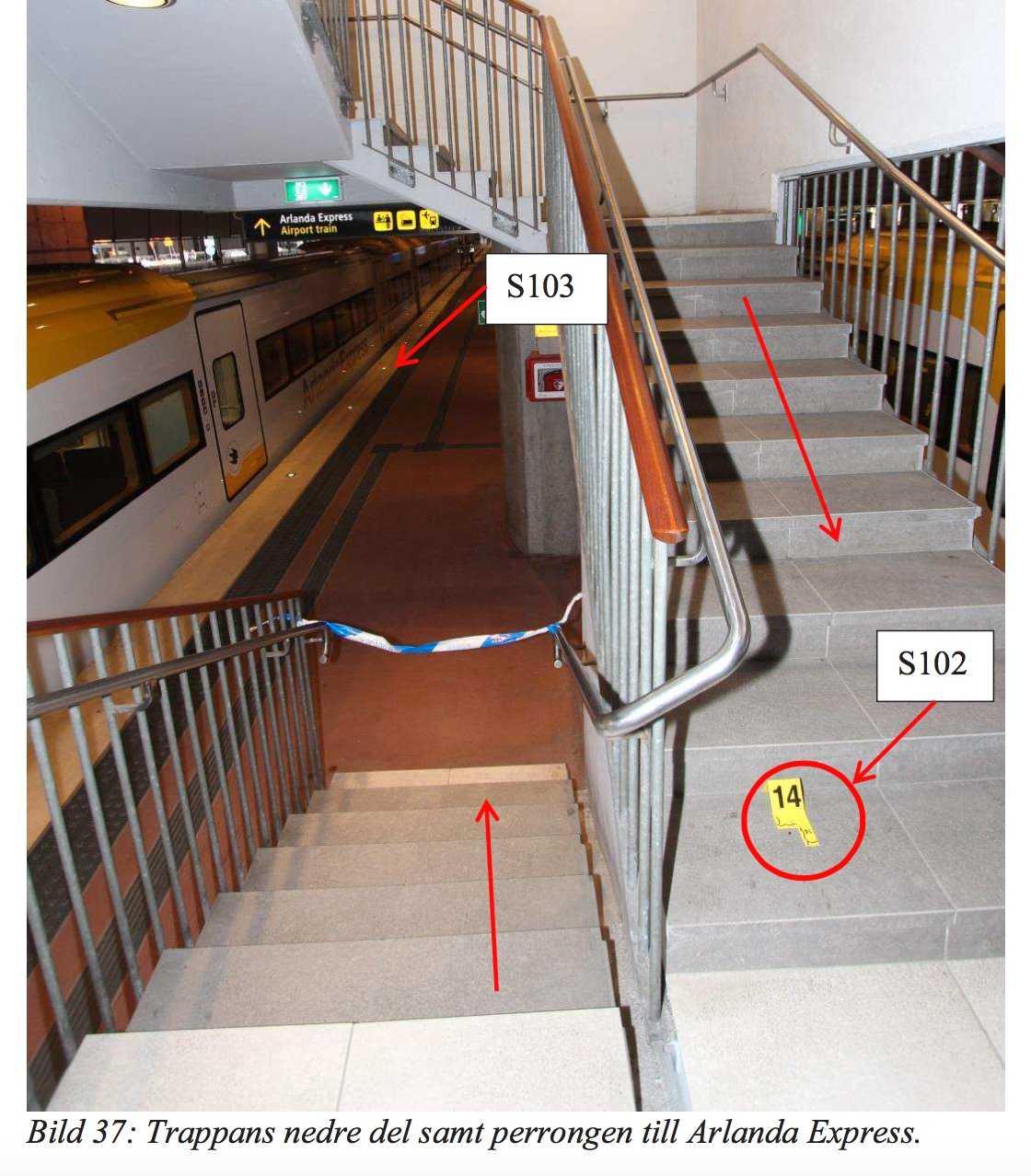 Andra delen av trappan.