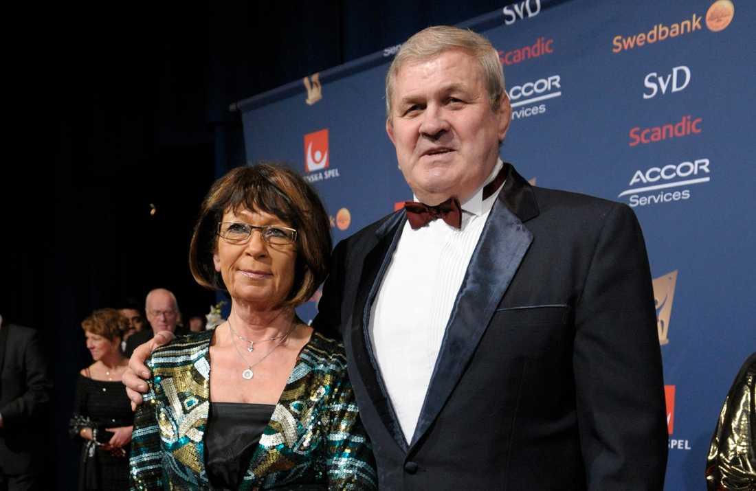 Pelle Svensson med hustrun Pia.