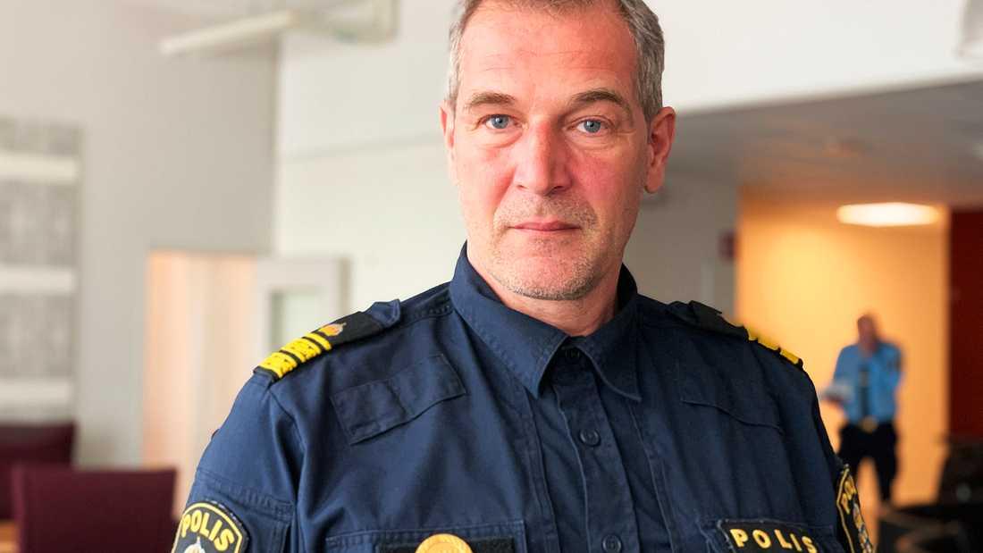 Daniel Larsson, polisinsatschef.