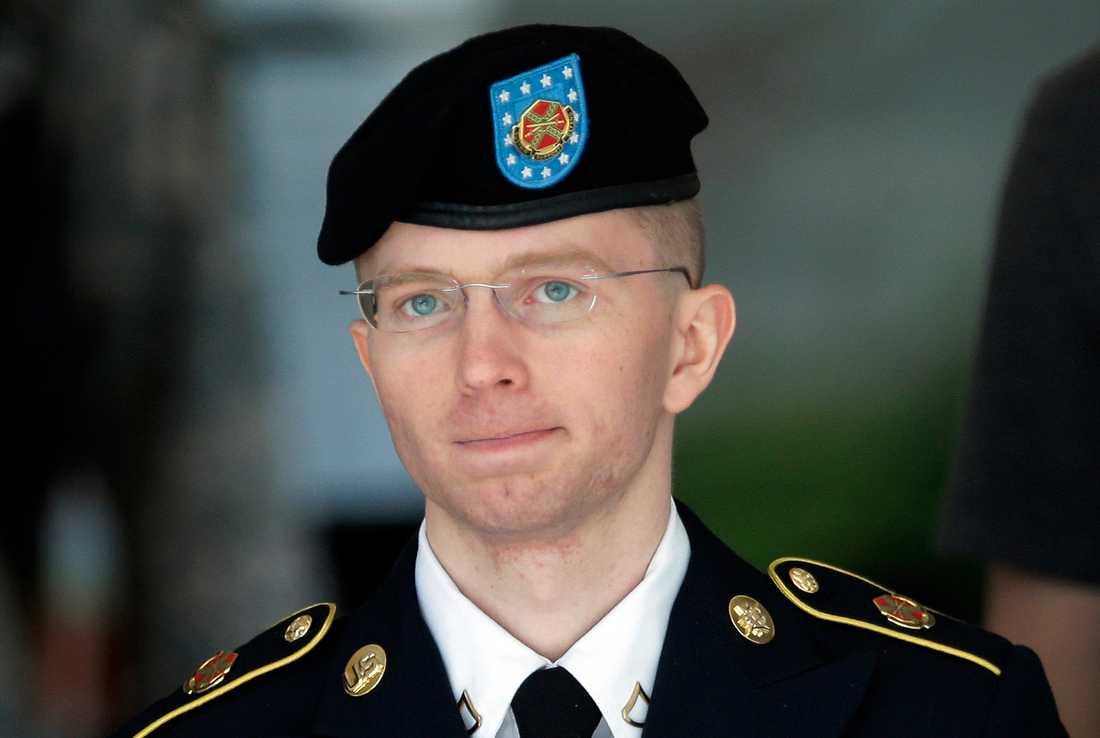 Chelsea Manning, då Bradley, när hon ställdes inför rätta för att ha läckt hundratusentals hemligstämplade dokument.