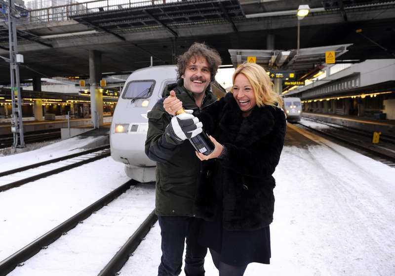 """Erik och Martina Haag vann """"På spåret"""" tillsammans 2012. Året efter skilde de sig."""