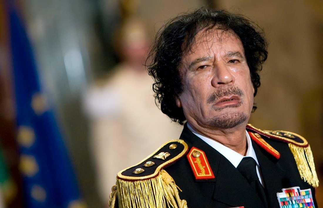 Tidigare diktatorn Moammar Gaddafi, bild tagen 2009.