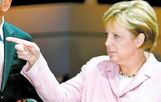 Angela Merkel, Tysklands förbundskansler. vit tyska med ... tyskt ursprung.