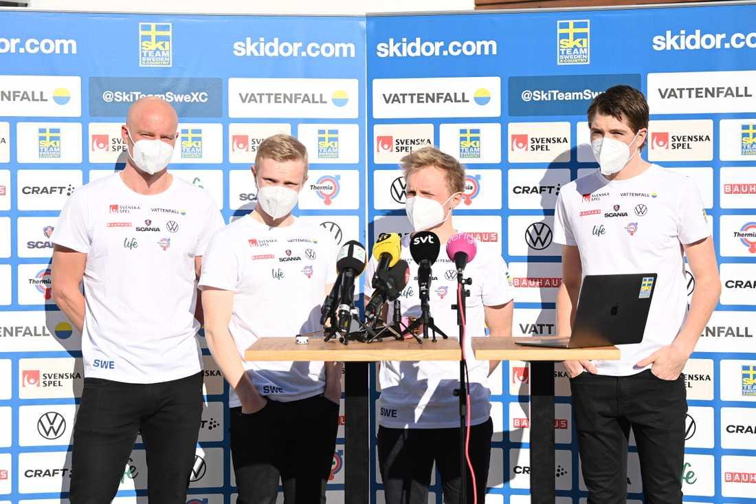 Svenska laget på 15 kilometer.