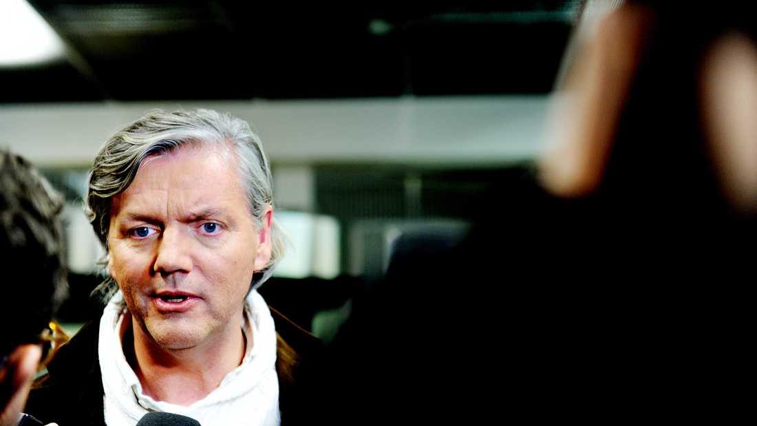 Spykers vd Victor Muller skyller Saabs konkurs på General Motors. Foto: AFTONBLADET
