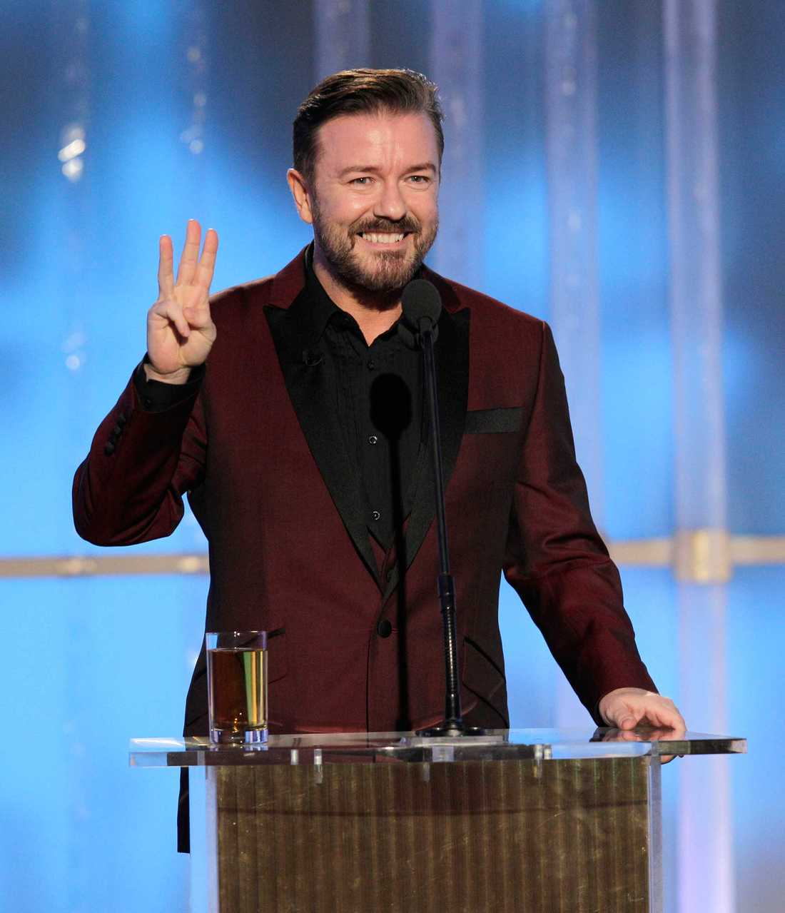 Ricky Gervais på Golden Globe 2012.