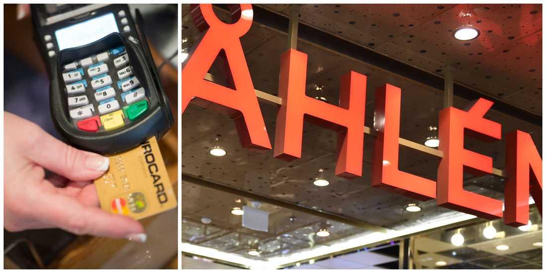 Åhléns har tre kontantfria butiker på test.
