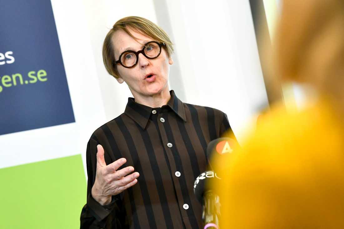 Annika Sundén, analyschef på Arbetsförmedlingen. Arkivbild.