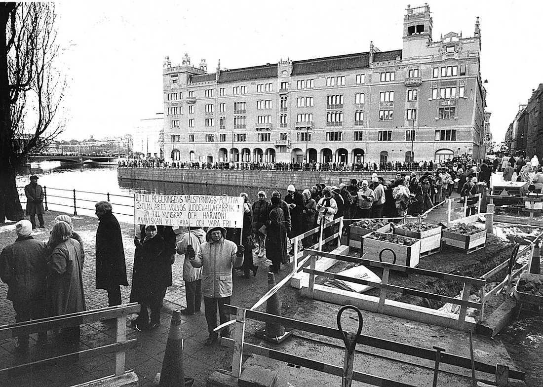 Lärarna grät i riksdagen när beslutet om kommunaliseringen togs 1989.