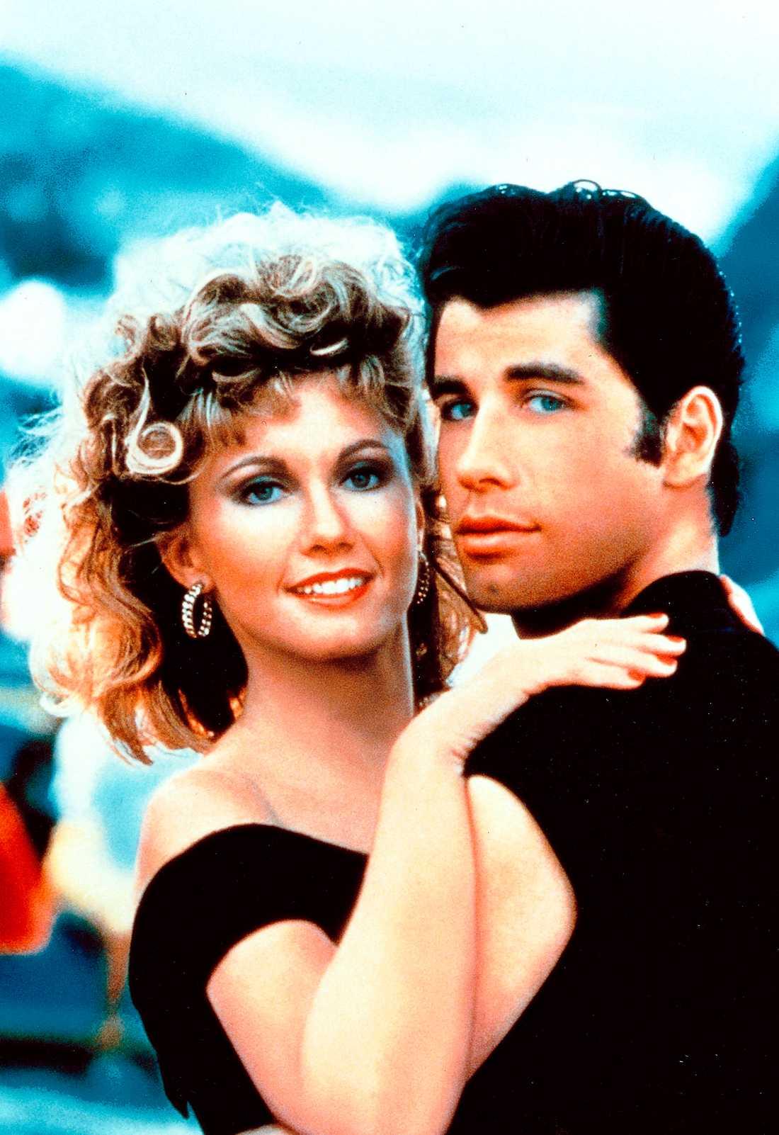 Olivia Newton John och John Travolta.