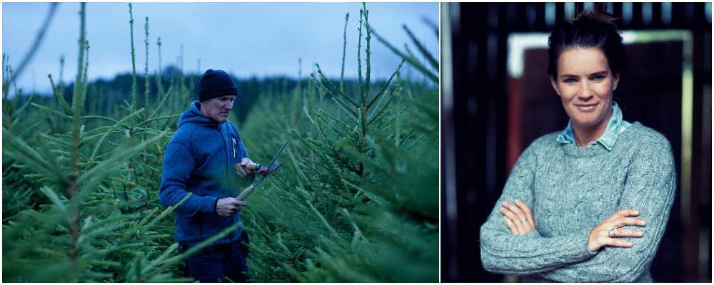 Bo-Egon Nilsson har odlat och sålt granar i Småland i 45 år på samma vis. Dottern Anna Benson kan det mesta.