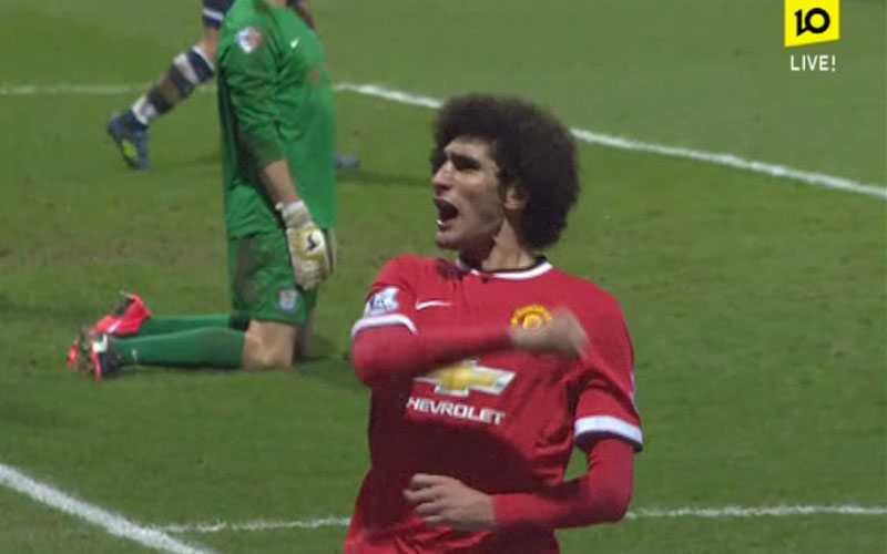 Fellaini gav United ledningen med 2-1.
