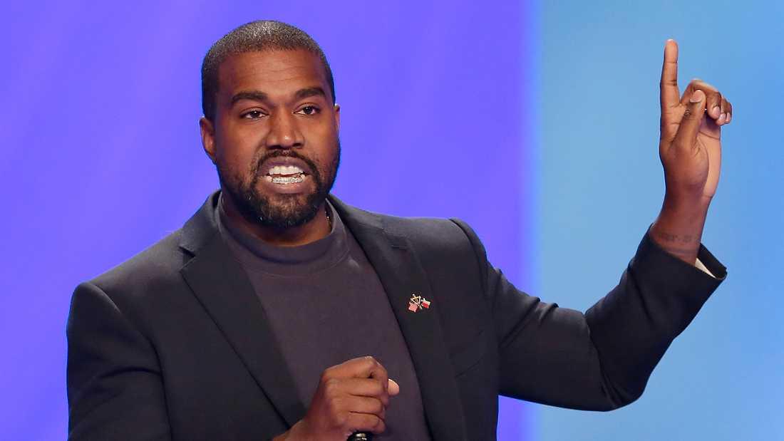 Kanye West siktar mot toppen, mot presidentposten i USA.