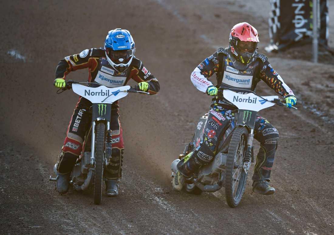 Australiens Jason Doyle och Sveriges Fredrik Lindgren.