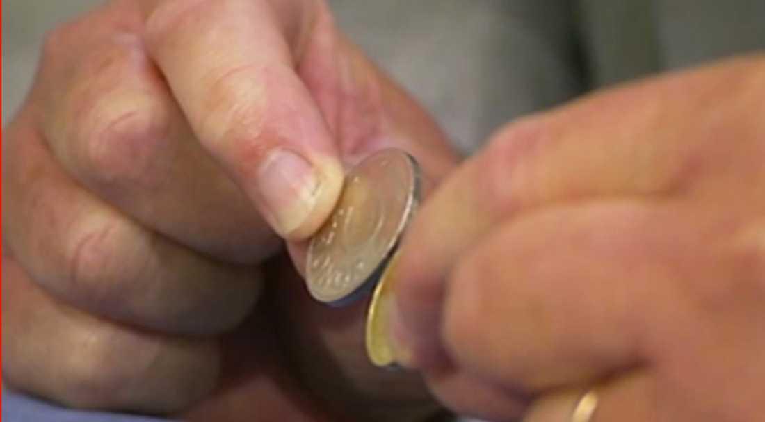 En skärmdump från Aftonbladets livesändning när de nya mynten presenterades.