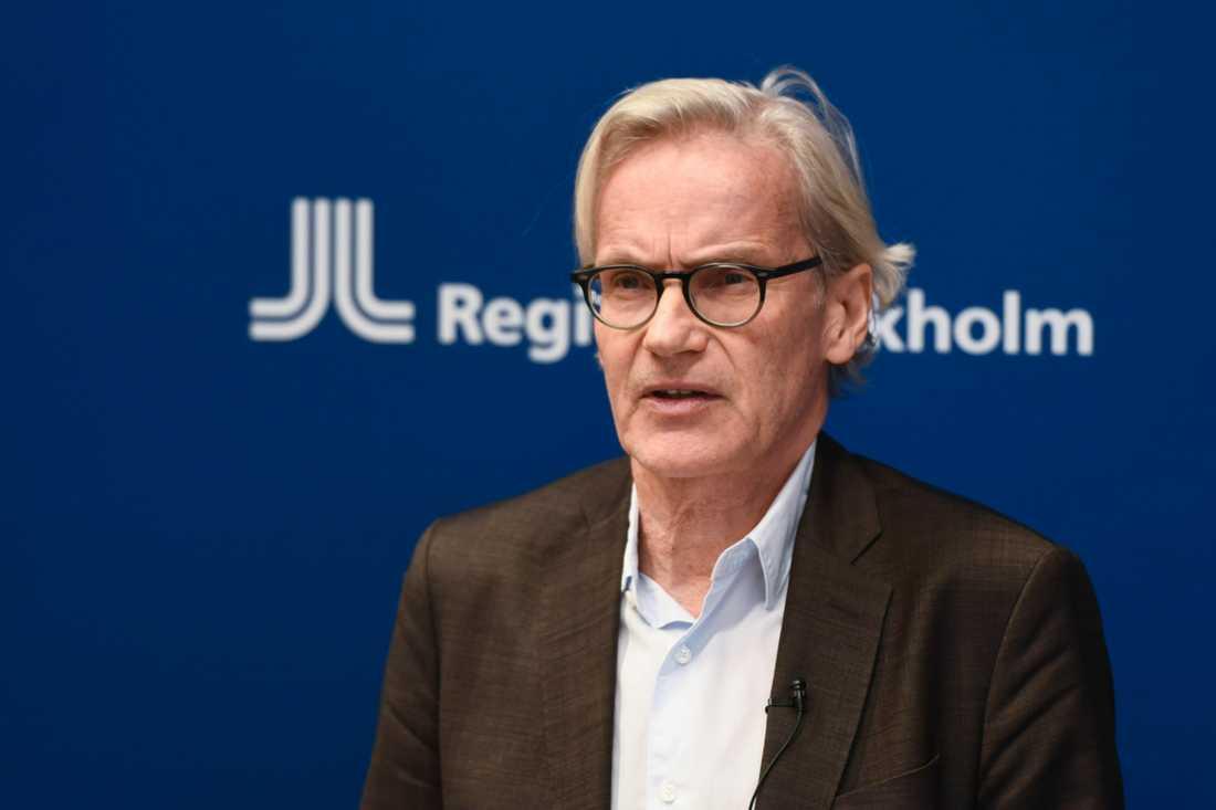 Region Stockholm ser en rejäl ökning av antalet svårt sjuka i behov av intensivvård, säger Johan Bratt, tillförordnad hälso- och sjukvårdsdirektör.