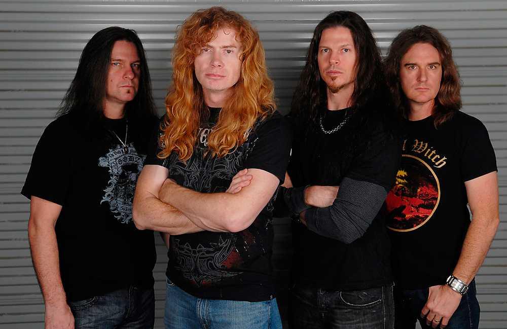 Megadeth har sedan starten 1983 avverkat horder av medlemmar. Förutom Mustaine består gruppen sedan 2010 av Shawn Drover, Chris Broderick och Dave Ellefson.