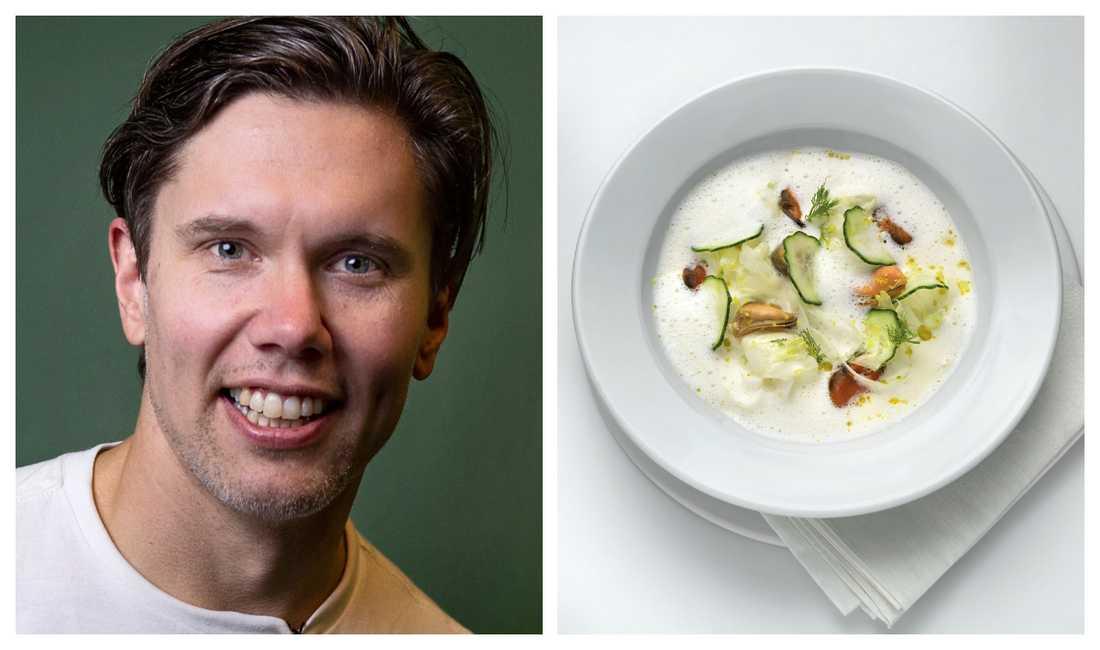 """Tommy Myllymäki bjuder på tips och recept på soppa ur sin nya bok """"Soppa, potage och buljong""""."""