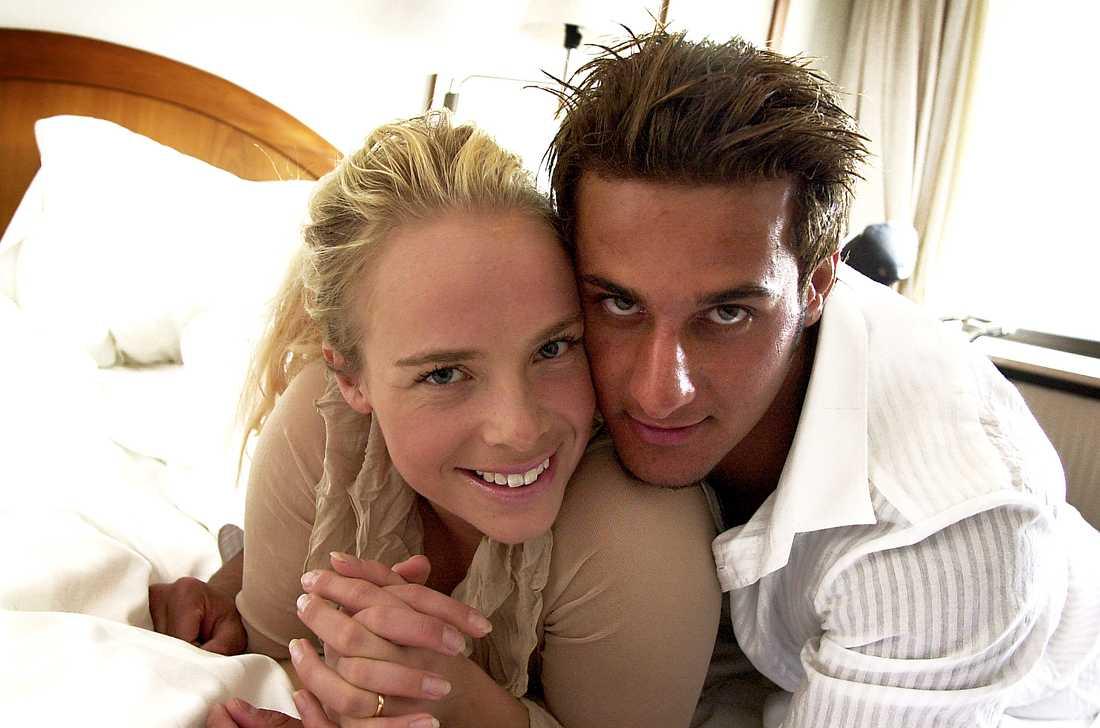 """Marie Picasso och Benjamin Sorani förlovade sig i """"Big Brother"""" 2002."""
