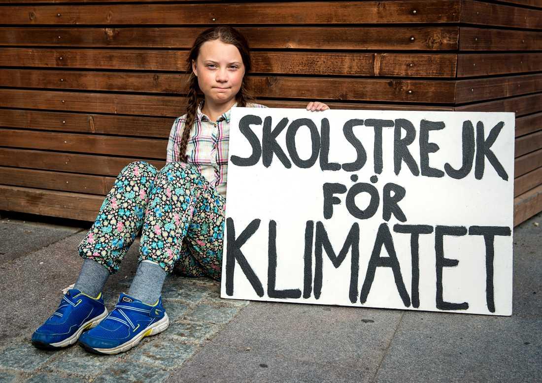 Klimataktivisten Greta Thunberg, 16.