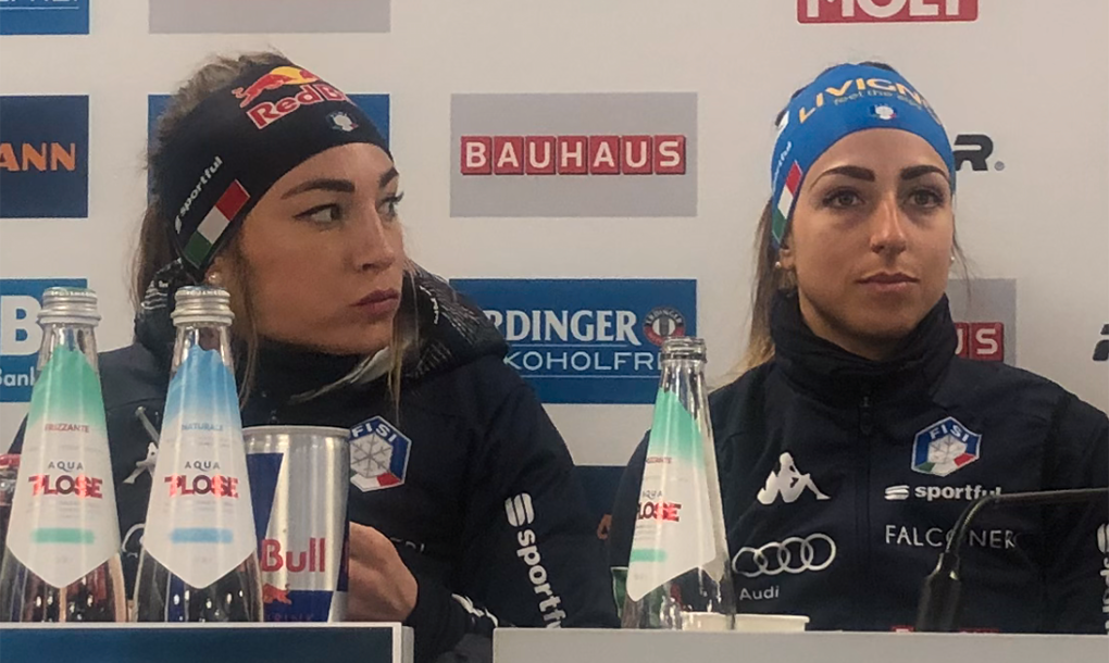 Dorothea Wierer och Lisa Vittozzi.