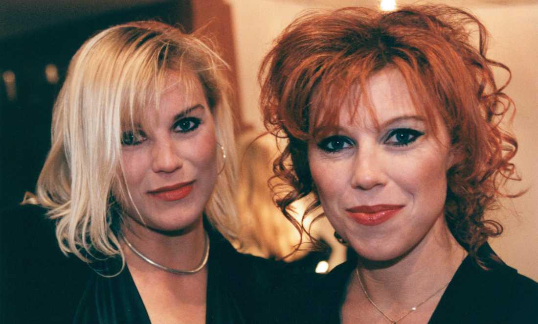 Josefin och Marie Nilsson i Ainbusk på 1990-talet.