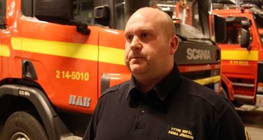 Brandmannen Pärra Jönsson var en av de första på plats efter olyckan.