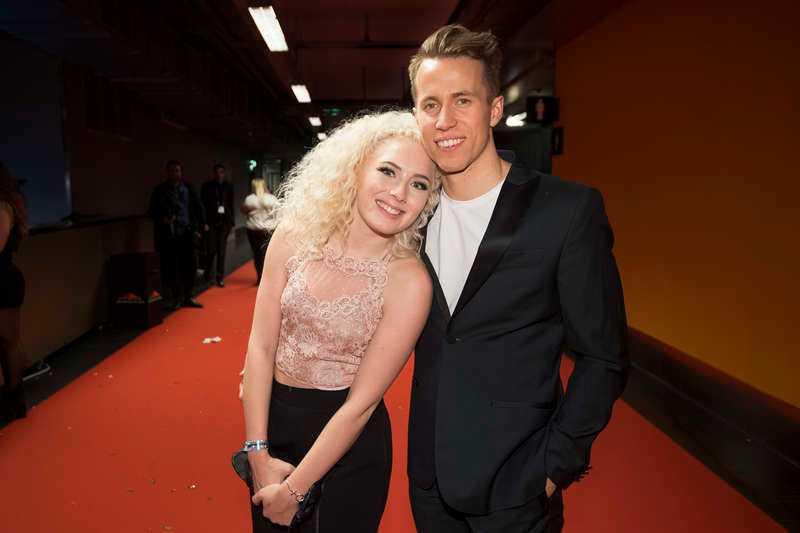 Wiktoria Johansson tillsammans med före detta pojkvännen Martin Jonsson.