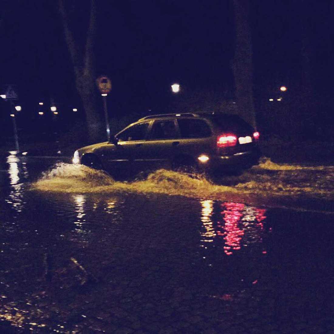 Översvämningar i Landskrona.