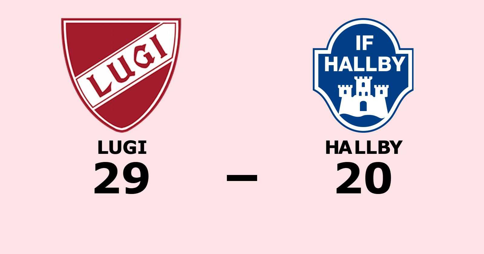 Lugi vann mot Hallby på hemmaplan