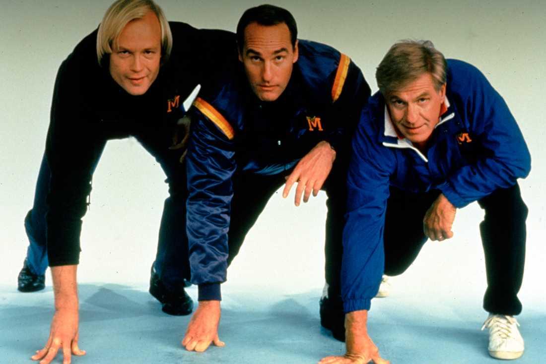 """Jerry Van Dyke, längst till höger, i tv-serien """"Coach"""""""