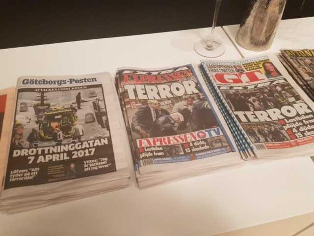 Terrorismens pr-kupp fungerar - panik på alla förstasidor.