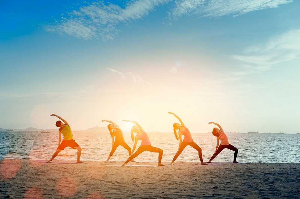 Långweekends med yoga ökar i popularitet.
