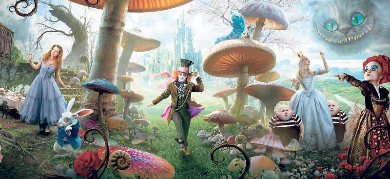 """BURTONLANDET """"Alice i Underlandet"""" har blivit mer modern i Tim Burtons tappning."""